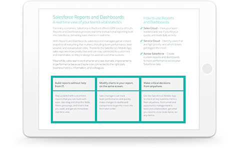 See what Reports & Dashboards and Wave Analytics can do for you.