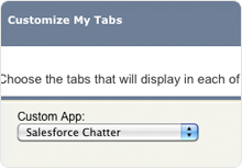 Configure the Chatter tabs