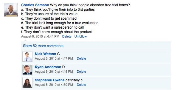 Survey your colleagues about marketing tactics