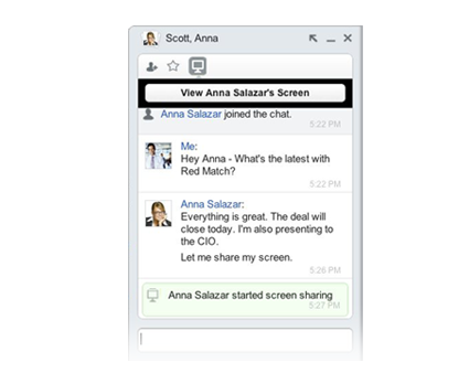 Chatter Screensharing