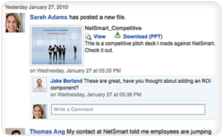 Collaborate in context on documents with Chatter