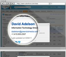 Data.com Lists contact info
