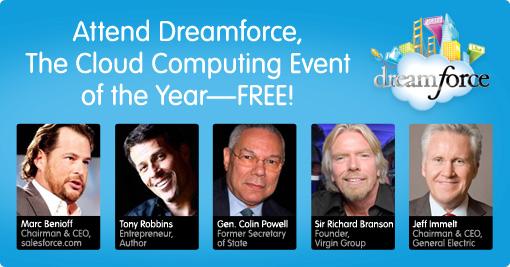 Free Salesforce Dreamforce 2012 pass