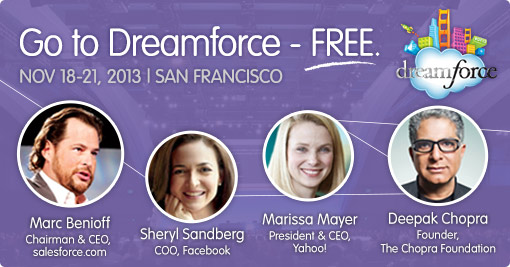 Register for free passes to Salesforce Dreamforce 2013 conference in San Francisco