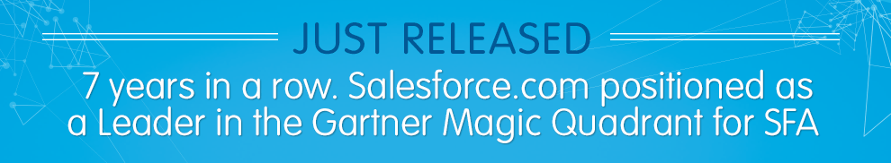 Gartner Magic Quadrant for Sales Force Automation 2013