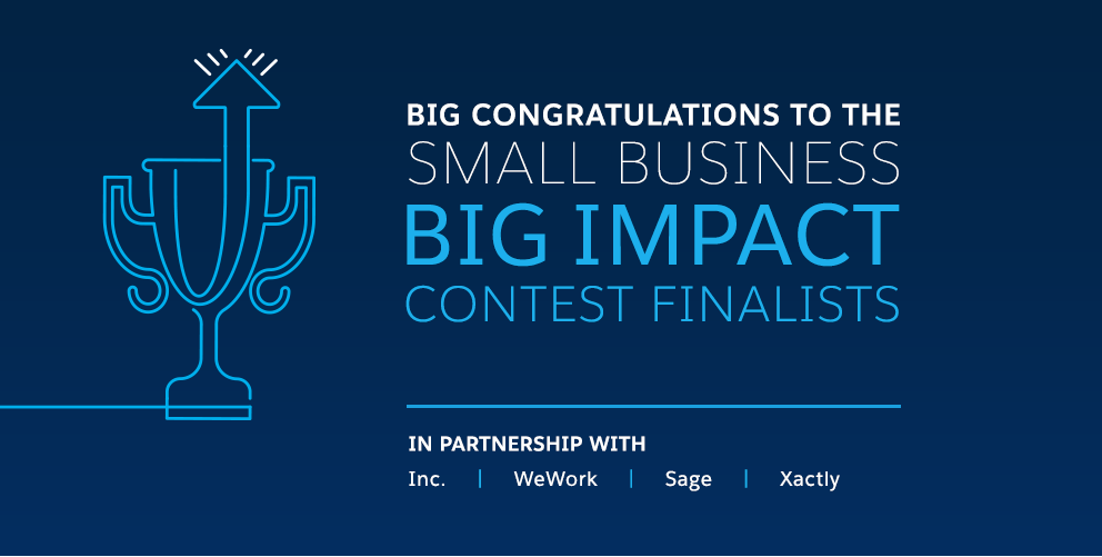 Big Congratulations to the Small Business Big Impact Contest Finalists