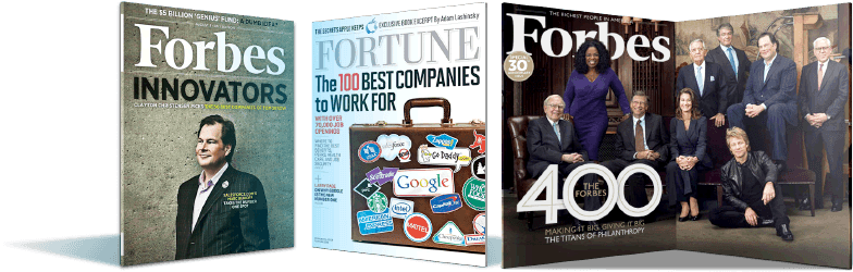 Berichte über Salesforce in den Magazinen Fortune und Forbes