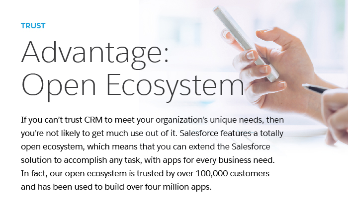 Our open ecosystem allows for a customizable CRM