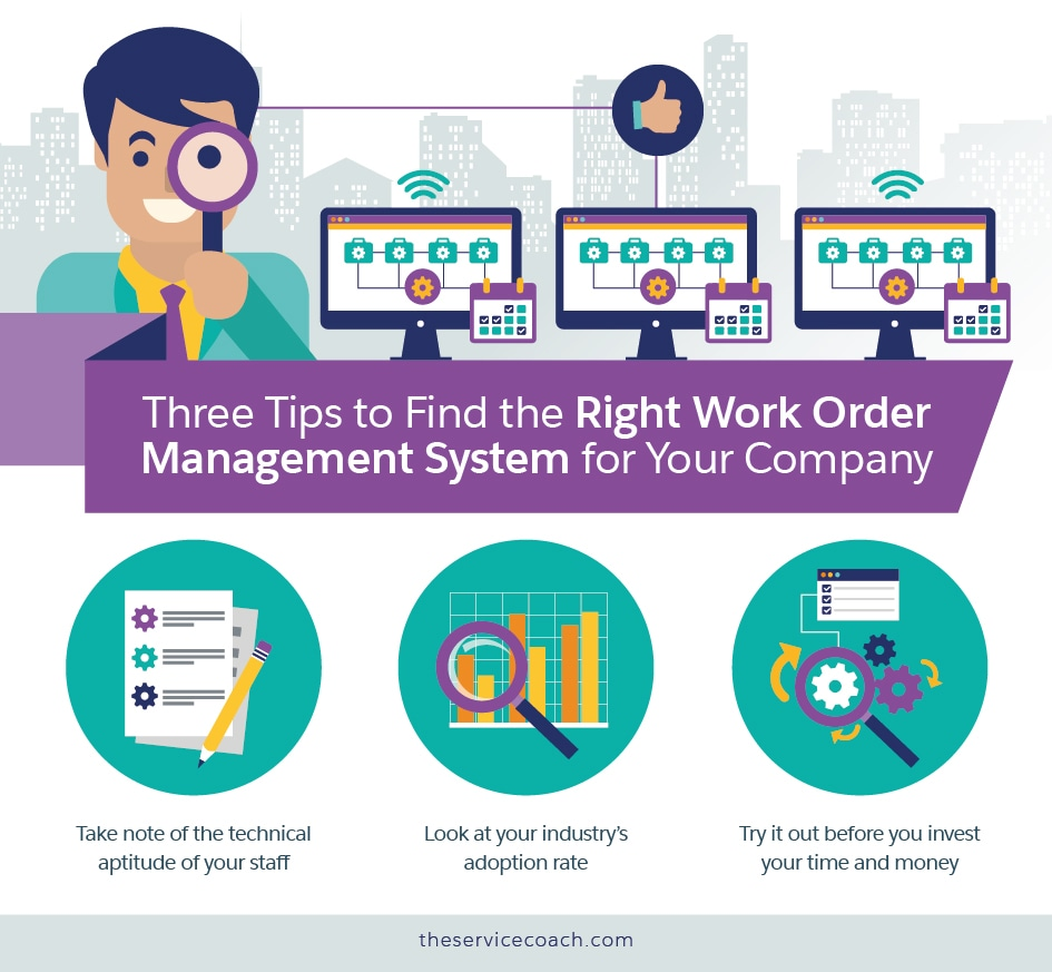 Three Tips to Find the Right Work Order Management System for Your Company