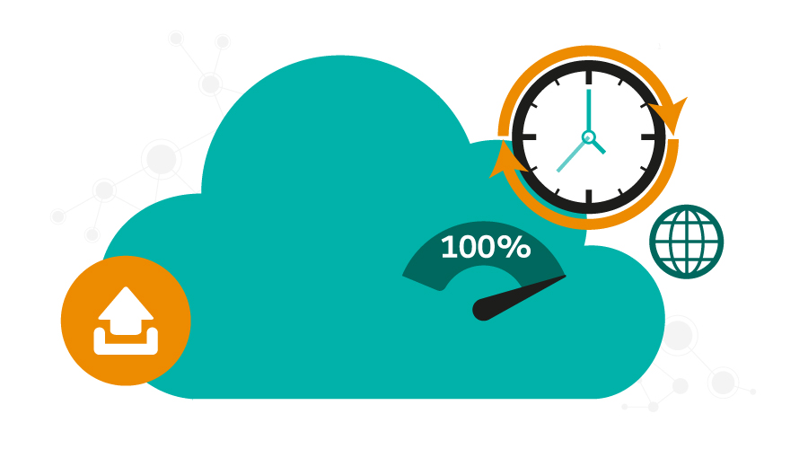 Cloud based equals little downtime