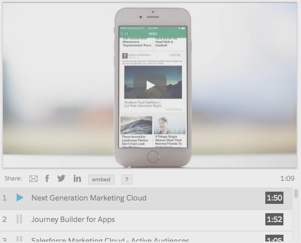 Salesforce Marketing Cloud digital advertising demo