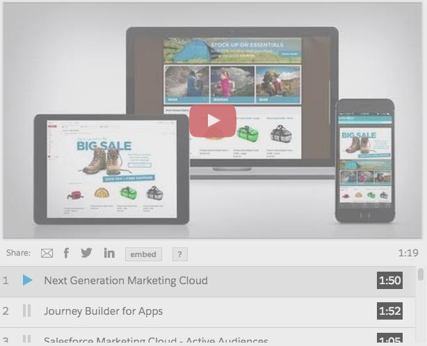 Salesforce Marketing Cloud Predictive Intelligence demo