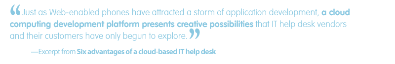 'Quote-White paper: Six advantages of a cloud-based help desk'