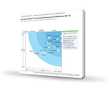 Forrest Wave Low-Code Development Platforms report cover