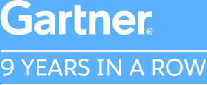Gartner: 9 Years in a Row