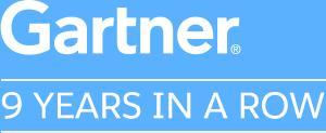 Gartner: 9 Years in a Row