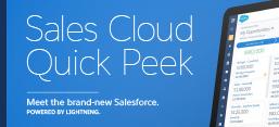 Sales Cloud Quick Peek