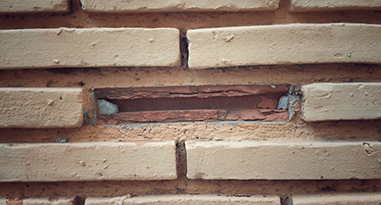 missing brick