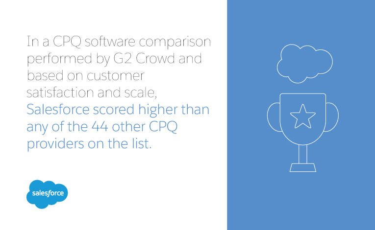 salesforce is the best choice for cpq software