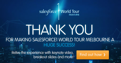 Salesforce 1 World Tour Melbourne, Register now