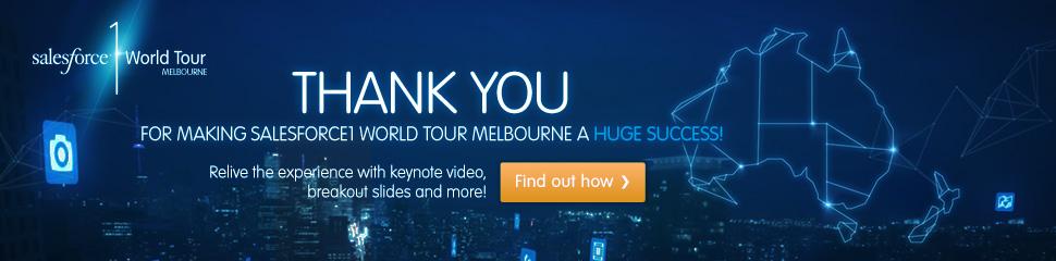 Salesforce 1 World Tour Melbourne, Register now