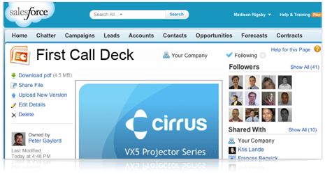 salesforce销售管理系统