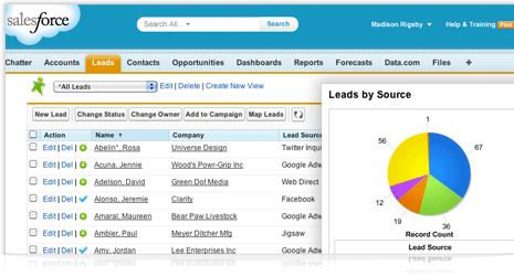 sales force商机管理软件