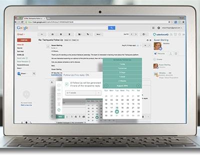 SalesforceIQ Inbox in Gmail screenshot