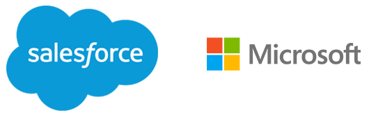 salesforce.com and Microsoft logos