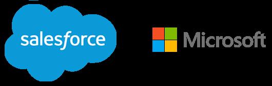 salesforce.com and Microsoft logos