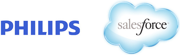 salesforce.com and Philips logos