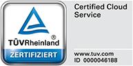 TÜV Rheinland - Certified Cloud Service