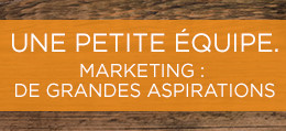 Marketing : de grandes aspirations.