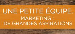 Marketing: de grandes aspirations.