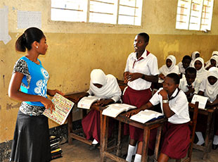 """""""Camfed trains at least two teachers in each of its 5,270 government partner schools to become mentors, offering psychological support to the vulnerable children who are Camfed's clients. Image: Camfed"""