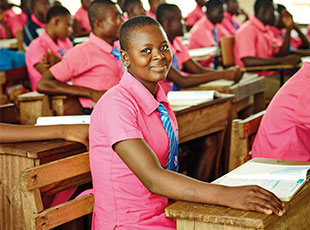 Camfed commits to supporting girls through the entire secondary school cycle, and tracks each client's progress in Salesforce. Image:  Camfed