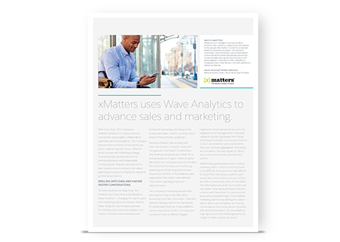 xMatters Uses Wave Analytics to Advance Sales and Marketing
