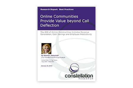 online community value constellation report
