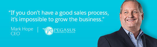 """If you dont hae a good sales proecss, it's impossible to grow the business."""