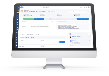 Salesforce's highly-rated CRM in action