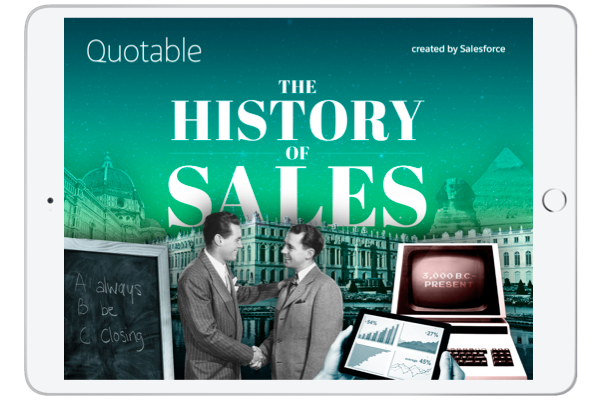 history of sales E-book