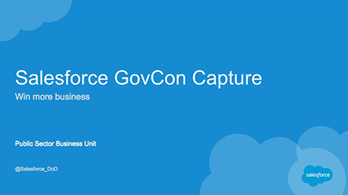 Salesforce GovCon Capture Webinar