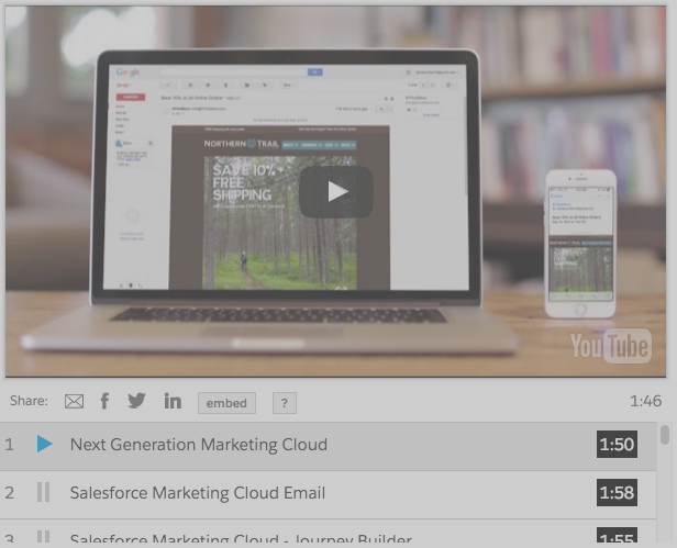 Salesforce Marketing Cloud email marketing demo
