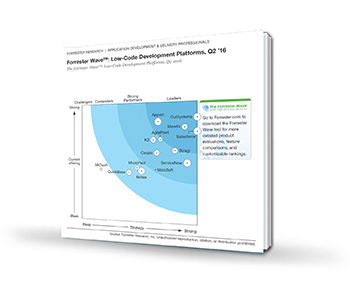 Forrest Wave Low-Code Development Platforms report cover