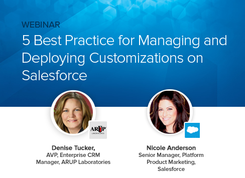5 best practices for managing and deploying customizations on Salesforce