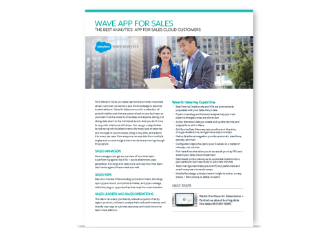 Sales Wave Analytics: One page overview