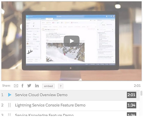Service Cloud demo